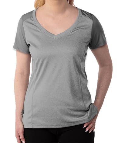 Sport-Tek Women's Endeavor Performance Shirt - Light Grey Heather / Light Grey