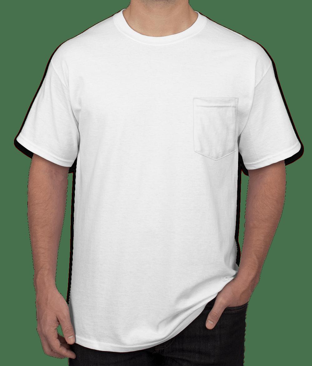 Design Custom Printed Gildan Ultra Cotton Pocket T Shirts Online At