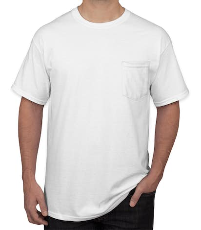 Design Custom Printed Gildan Ultra Cotton Pocket T Shirts Online At