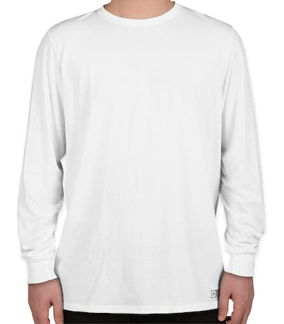 Russell Athletic Performance Blend Long Sleeve T-shirt - White