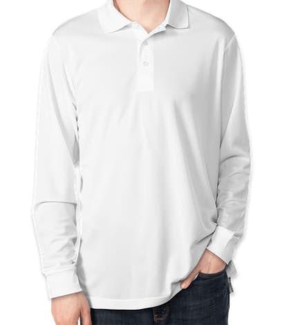 Core 365 Long Sleeve Performance Polo - White
