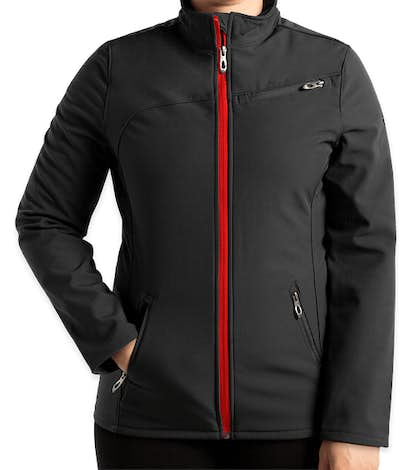 Spyder Women's Transport Soft Shell Jacket - Black / Red