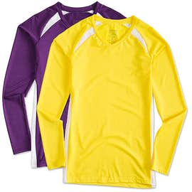 Augusta Juniors Long Sleeve Contrast Volleyball Jersey