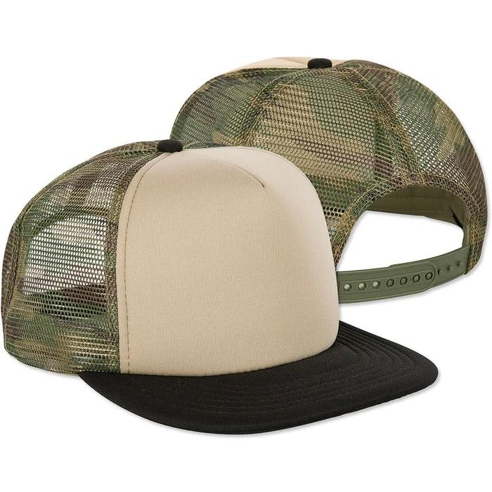 c0d6c93b9f8 Custom District Camo Flat Bill Snapback Hat - Design Trucker Hats ...