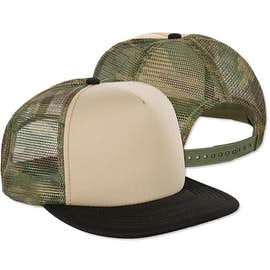 District Camo Flat Bill Snapback Hat