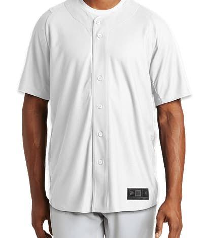 newest 3f8ca 10c5d New Era Diamond Era Full Button Baseball Jersey