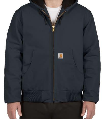Carhartt Water Repellent Flannel Lined Hooded Jacket - Dark Navy