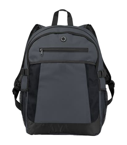 """Expandable 15"""" Computer Backpack - Charcoal"""