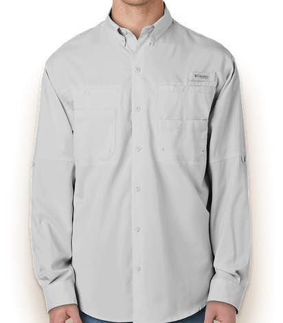Columbia Tamiami Long Sleeve Shirt - Cool Gray