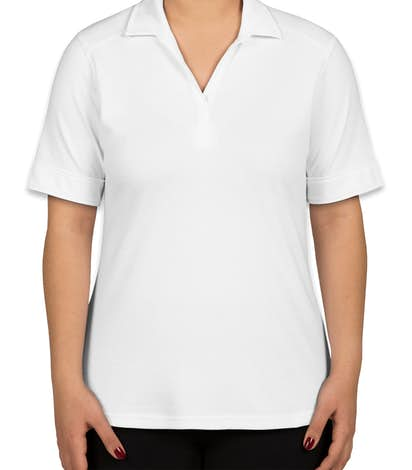 Port Authority Women's Silk Touch Interlock Jersey Polo - White