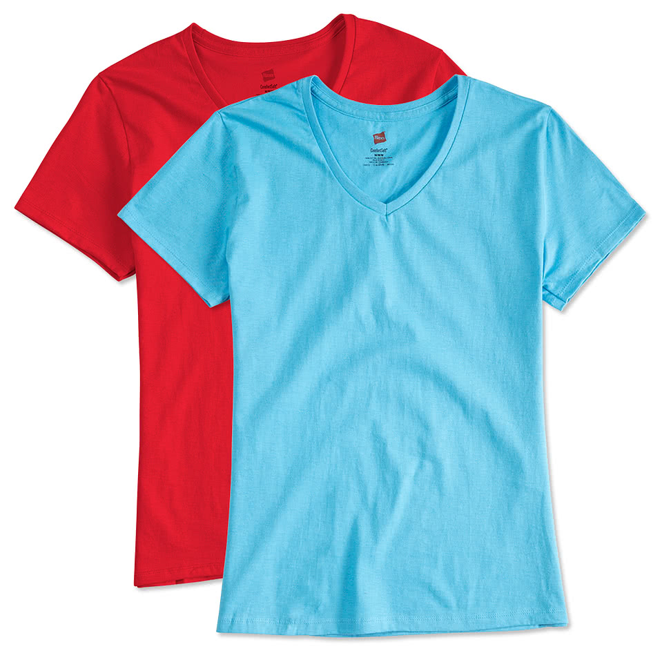 Champion Adult Women Short Sleeve V Neck TEE W