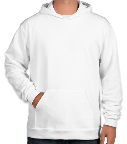 American Apparel Flex Fleece Drop Shoulder Pullover Hoodie - White