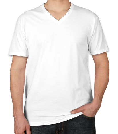 Custom Next Level 6040 V Neck T Shirt Design Short Sleeve T