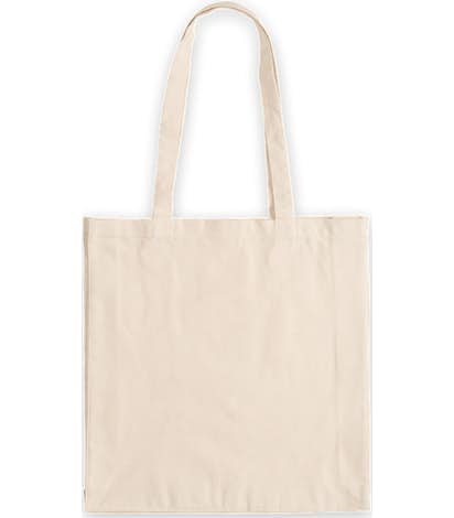 Tall Gusseted 100% Cotton Shopper Tote - Natural