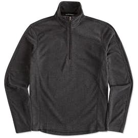 Port Authority Heather Half Zip Microfleece Pullover