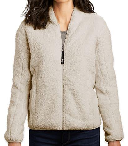 The North Face Women's High Loft Full Zip Fleece Jacket - Vintage White