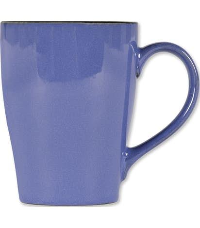 16 oz. Ceramic Two-Tone Sherwood Mug - Blue / Black