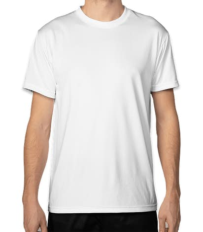 Bayside USA-Made Performance Shirt - White