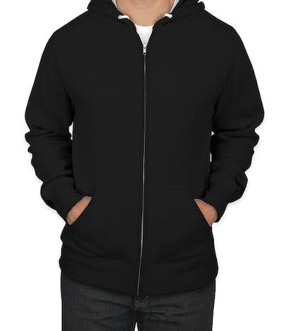 Independent Trading Lightweight Zip Hoodie - Black