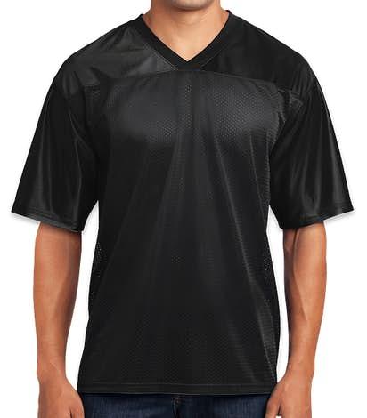 Sport-Tek Replica Football Jersey - Black