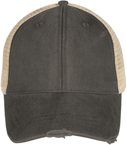 Adams Pigment Dyed Distressed Trucker Hat - Black / Tan