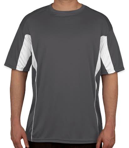 Badger Drive Contrast Performance Shirt - Graphite/White