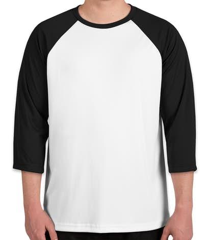 All Sport Performance Baseball Raglan - White / Black