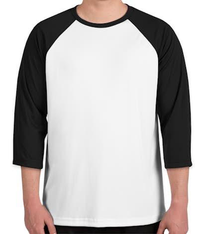 Canada - All Sport Performance Baseball Raglan - White / Black