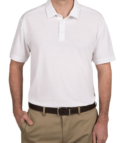 Port Authority Coastal Blend Polo - White