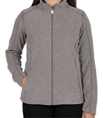 Port Authority Women's Heather Microfleece Full Zip Jacket - Pearl Grey Heather