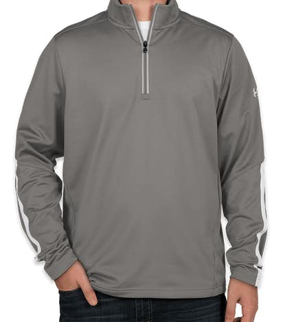 Under Armour Qualifier Performance Quarter Zip - Graphite / White