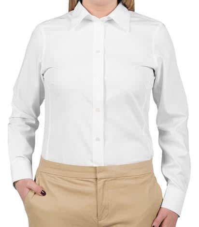 b0986c1e2 Custom Devon & Jones Women's Solid Dress Shirt - Design Women's ...
