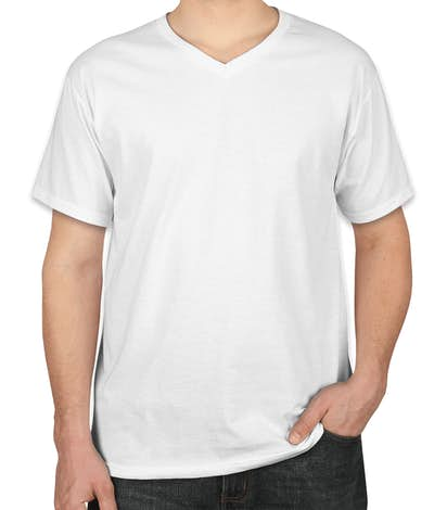 Canada - Fruit of the Loom 100% Cotton V-Neck T-shirt - White