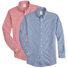 Brooks Brothers Non-Iron Gingham Button Down Dress Shirt