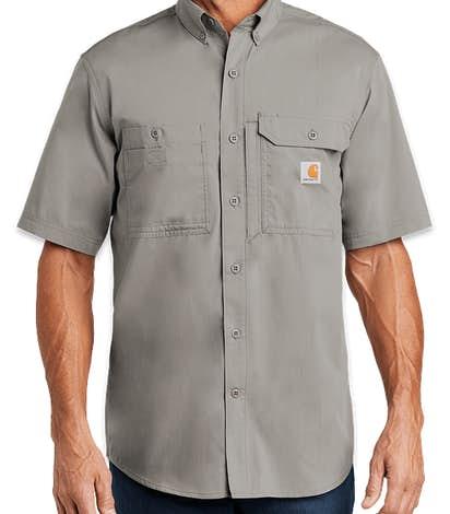 Carhartt Force Ridgefield Short Sleeve Casual Shirt - Asphalt