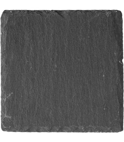 Square Slate Coaster - Natural Black Slate