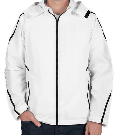Team 365 Mesh Lined Hooded Jacket - White