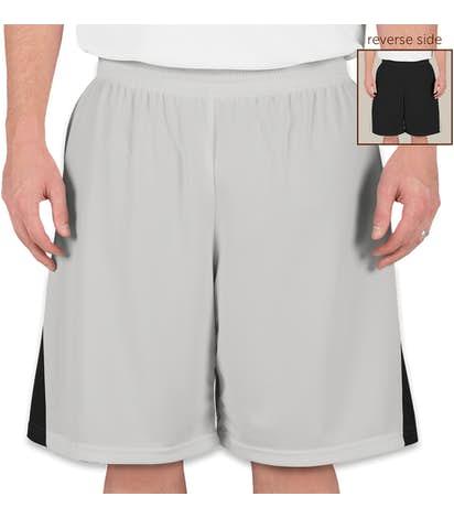 Teamwork Turnaround Reversible Basketball Shorts - Silver / Black