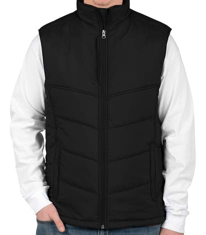 Port Authority Puffy Vest - Black / Black