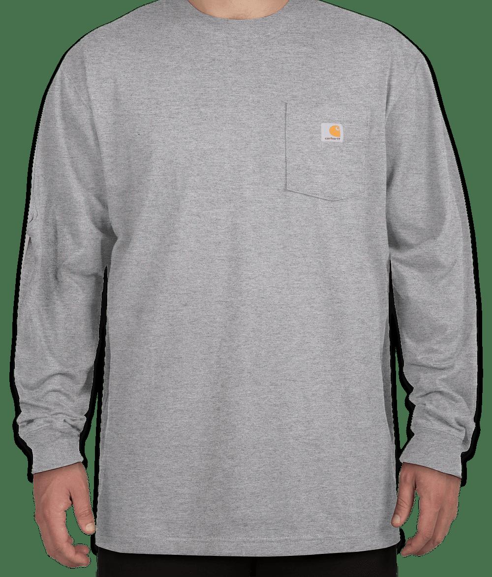 Custom Carhartt Workwear Long Sleeve Pocket T Shirt Design Long