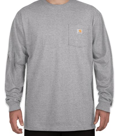 Custom Carhartt Workwear Long Sleeve Pocket T Shirt Design Long