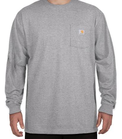 Carhartt Workwear Long Sleeve Pocket T-Shirt - Heather Grey