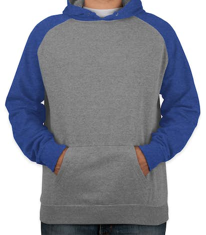 396913f84f279 Independent Trading Heather Raglan Pullover Hoodie