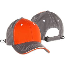 Sportsman Tri-Color Contrast Stitched Hat