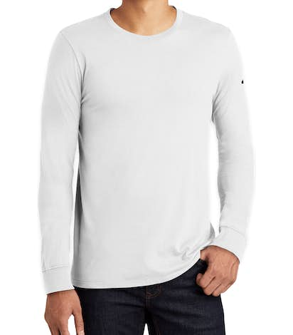 Nike 100% Cotton Long Sleeve T-shirt - White