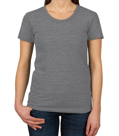 American Apparel Juniors Tri-Blend T-shirt - Athletic Grey