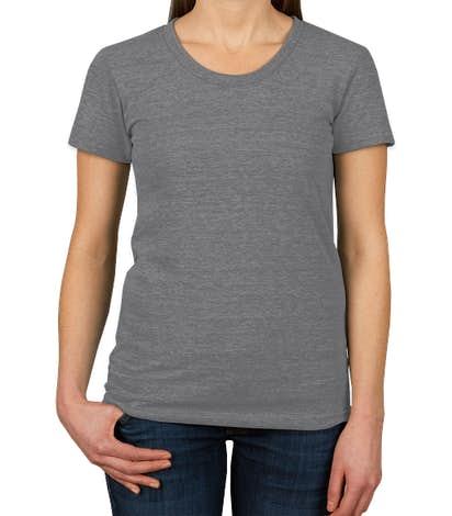 American Apparel Women's Slim Fit Tri-Blend Track T-shirt - Athletic Grey