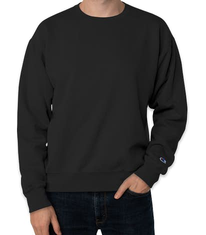 Champion Garment Dyed Crewneck Sweatshirt  - Black