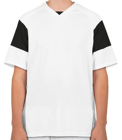 High Five Mundo Performance Soccer Jersey - White / Black / White