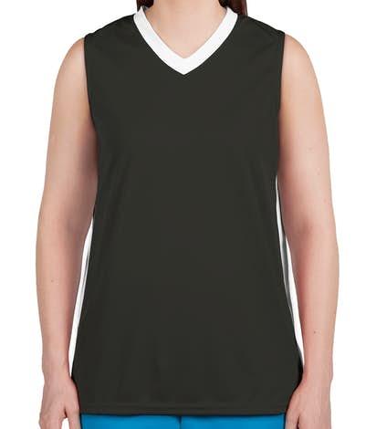 Augusta Women's Colorblock Basketball Jersey - Slate / White